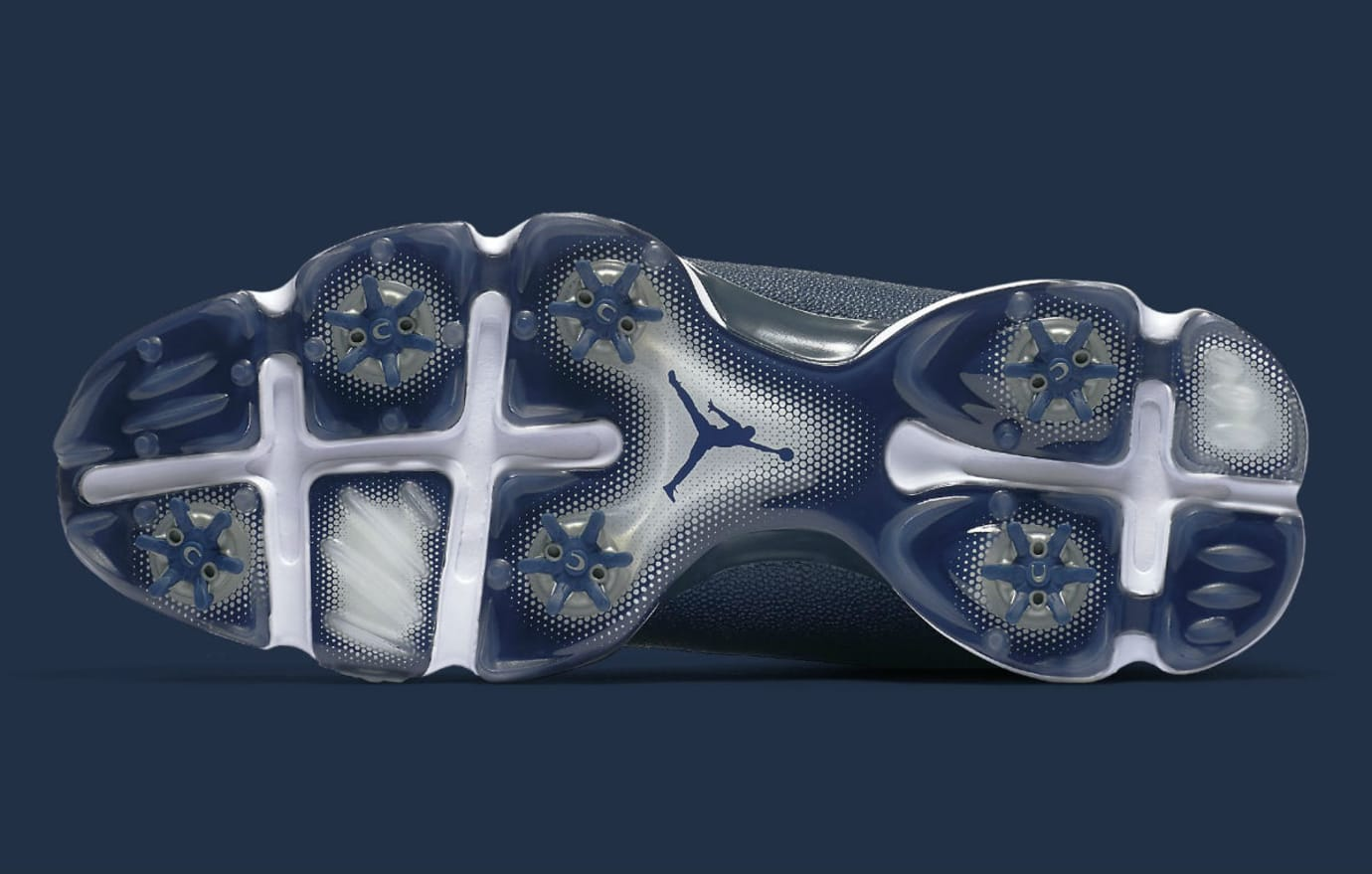 Air Jordan 13 Low Golf Navy Release Date Sole 917719-100