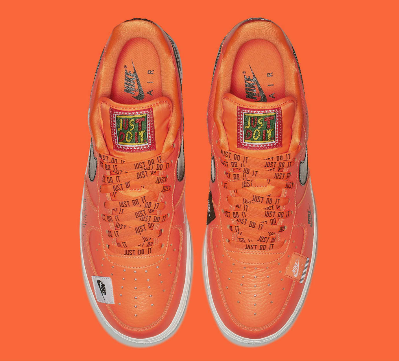 Nike Air Force 1 Low Just Do It Orange Release Date AR7719-800 Top
