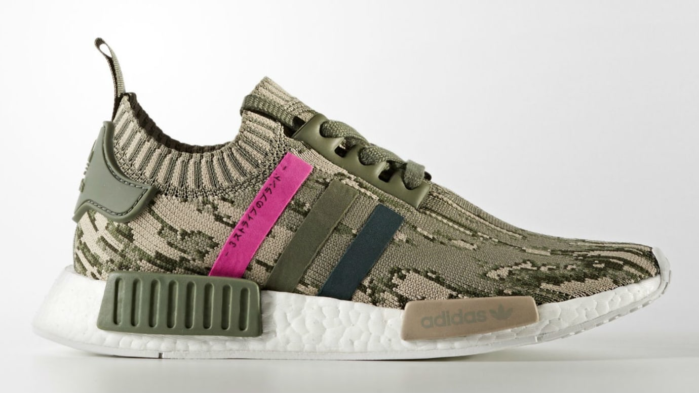 Adidas Women s NMD R1 Primeknit ST Major Green Night Shock Pink Release  Date BY9864 a7e3d6afe103