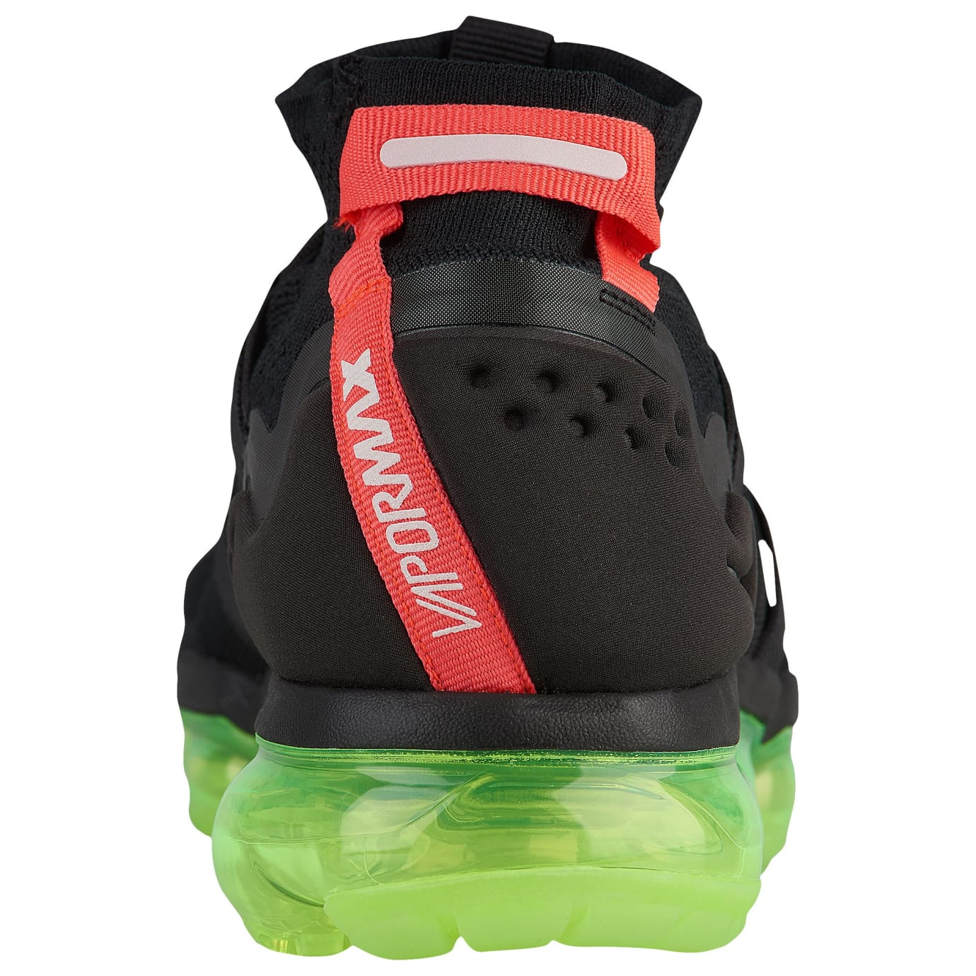 32be00db91 Image via Foot Locker Nike Air VaporMax Flyknit Utility Yeezy Black Volt  Crimson Release Date AH6834-007 Heel