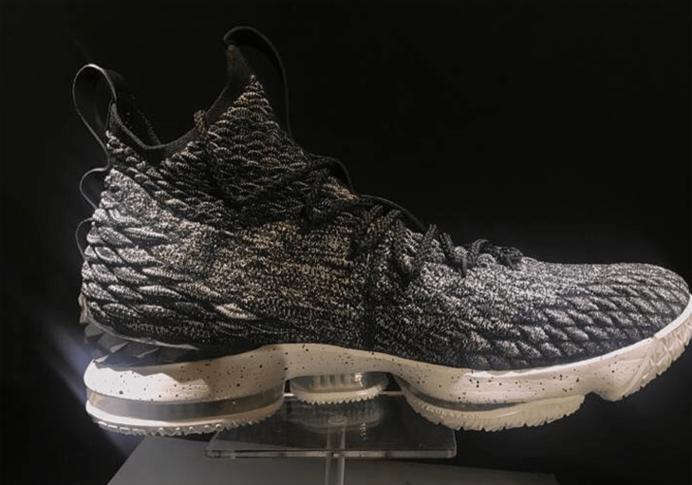 premium selection 07604 56d47 Nike LeBron 15 Black White 897648-002 | Sole Collector
