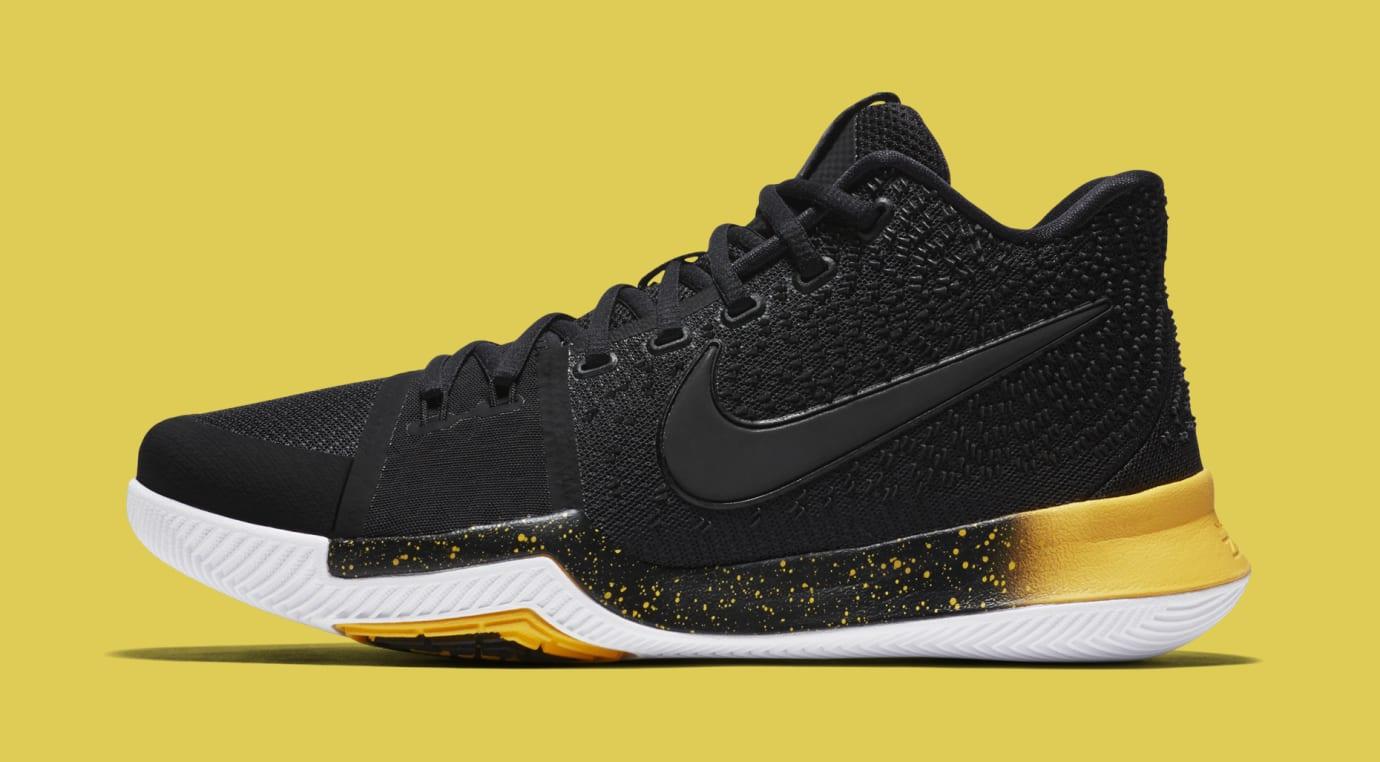 Nike Kyrie 3 Black Yellow Multicolor 852396-901 Profile