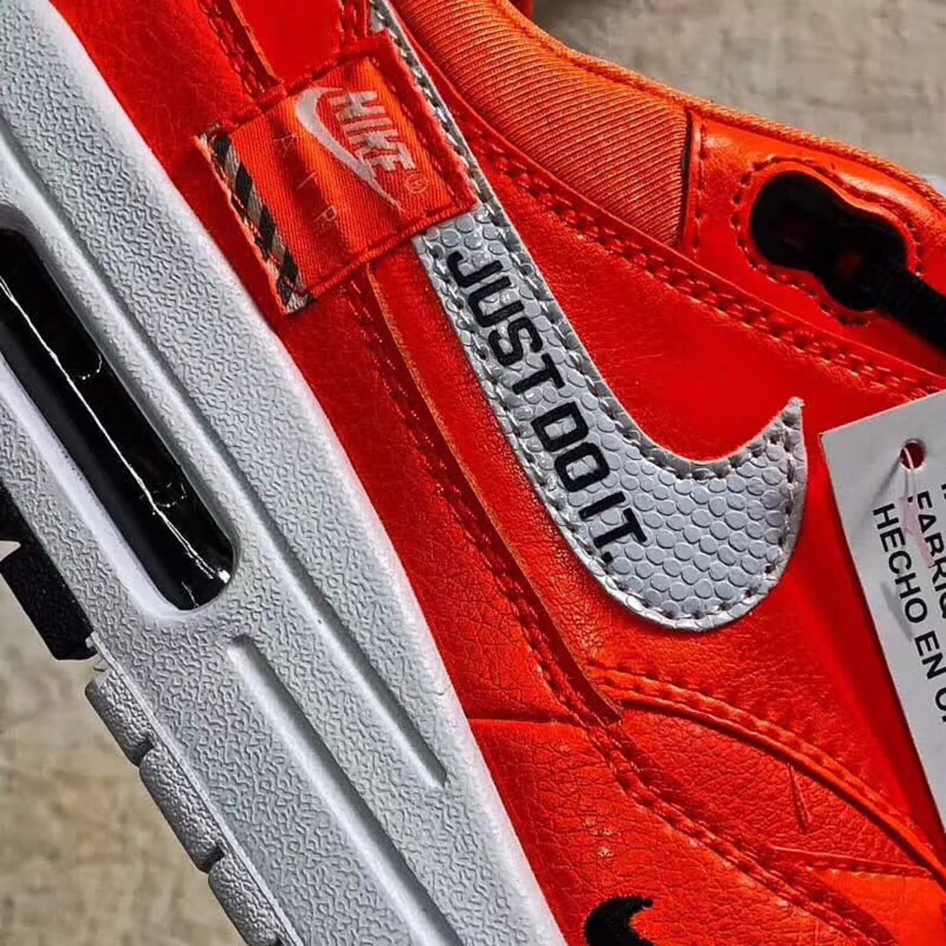 Nike Air Max 1 Just Do It Orange Swoosh
