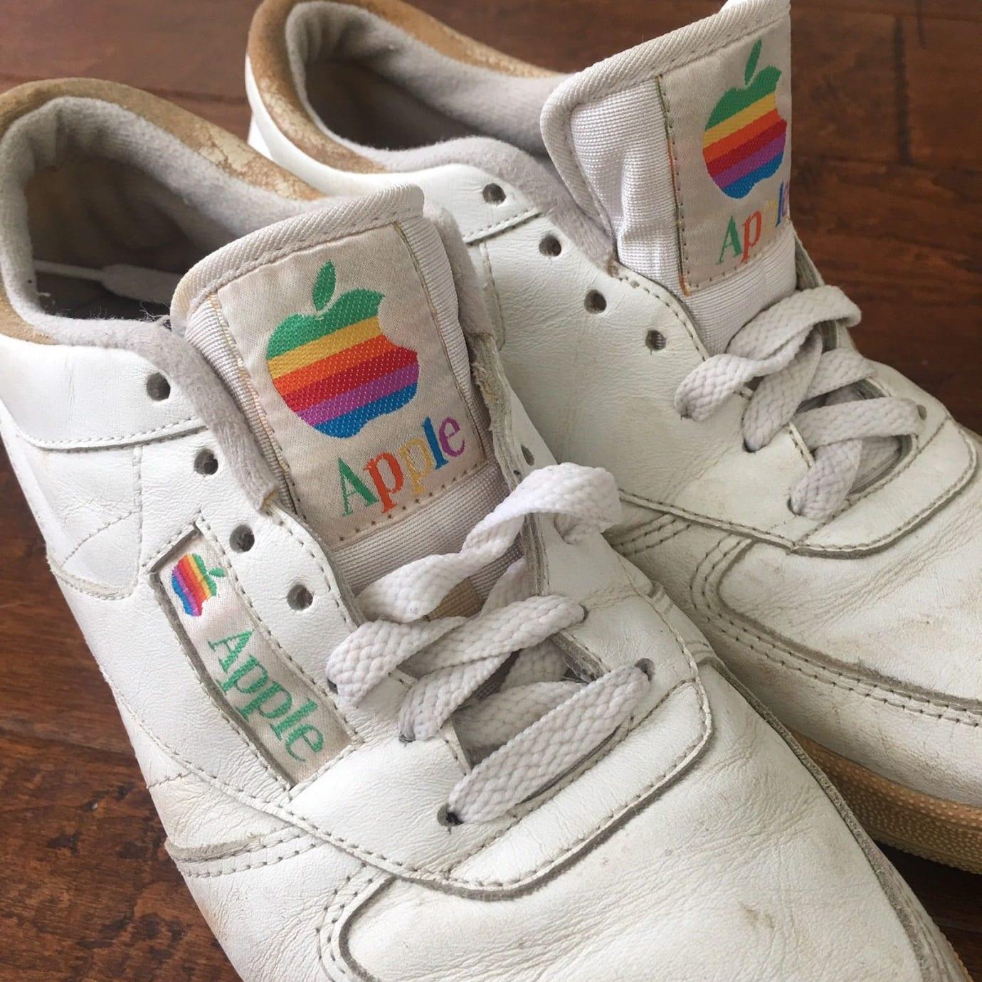 Apple Sneakers Mac Rainbow Logo Tongue