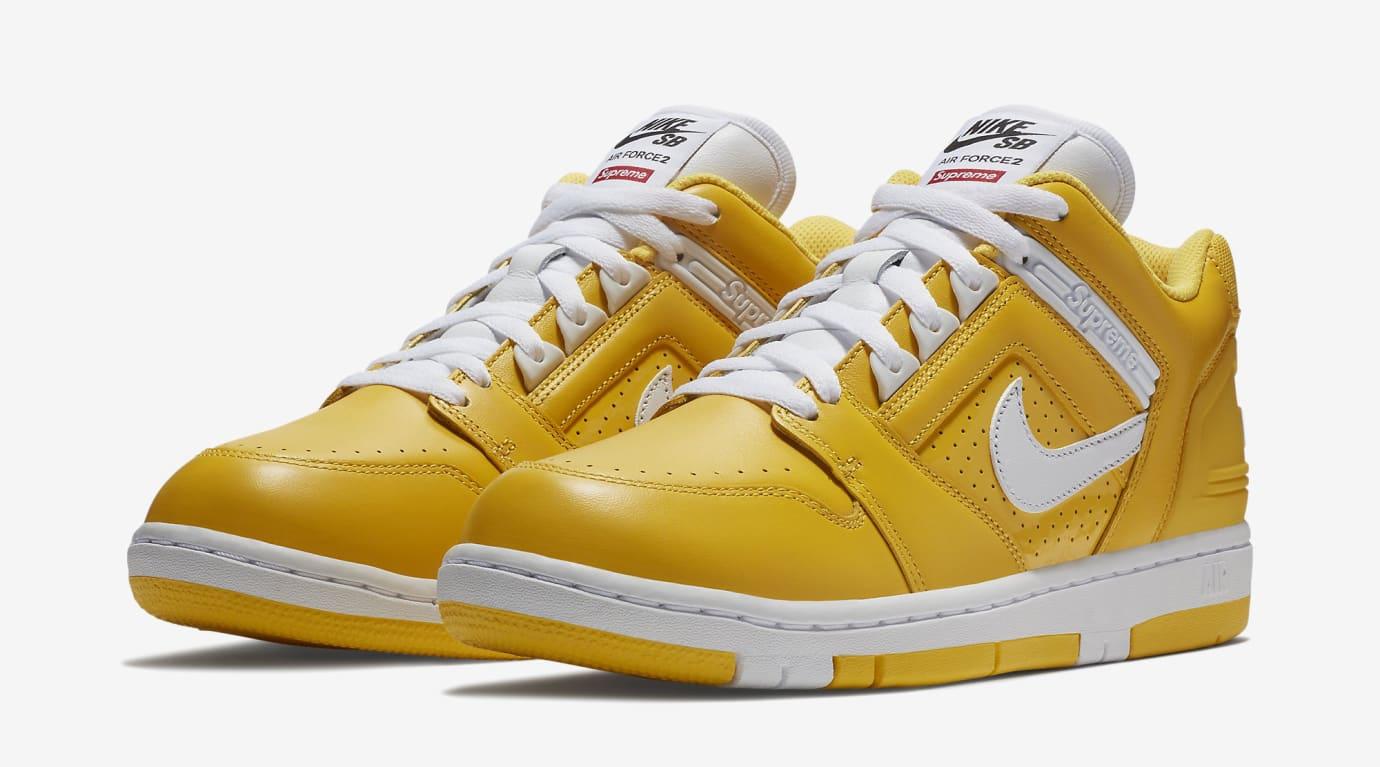 Supreme Nike SB Air Force 2 AA0871-717 Yellow