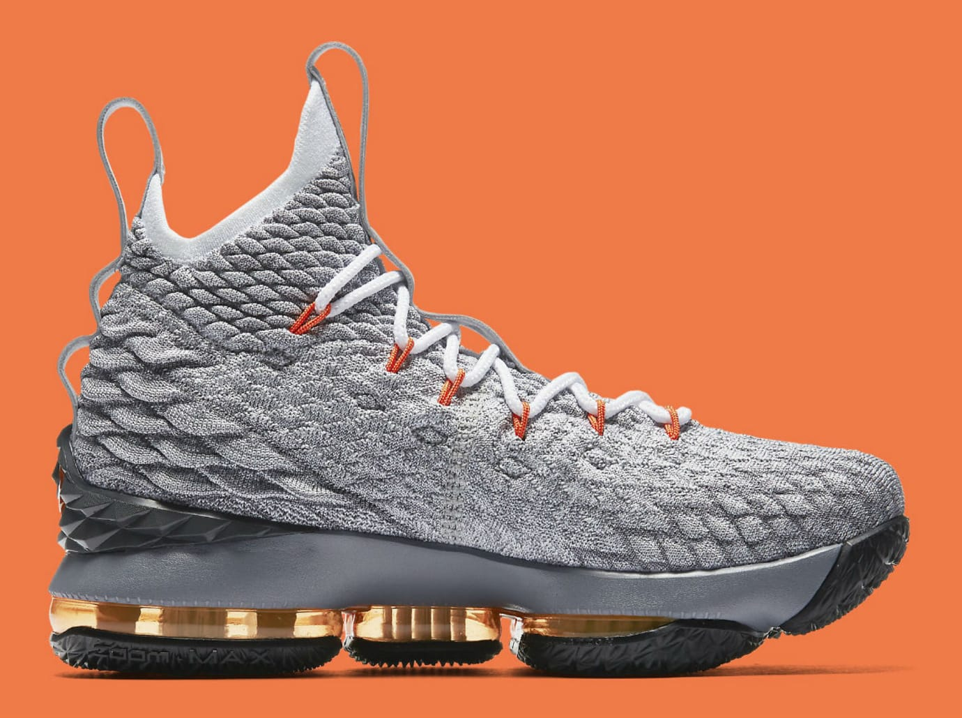 Nike LeBron 15 GS Black Safety Orange Dark Grey Wolf Grey Release Date  922911-080 489784192