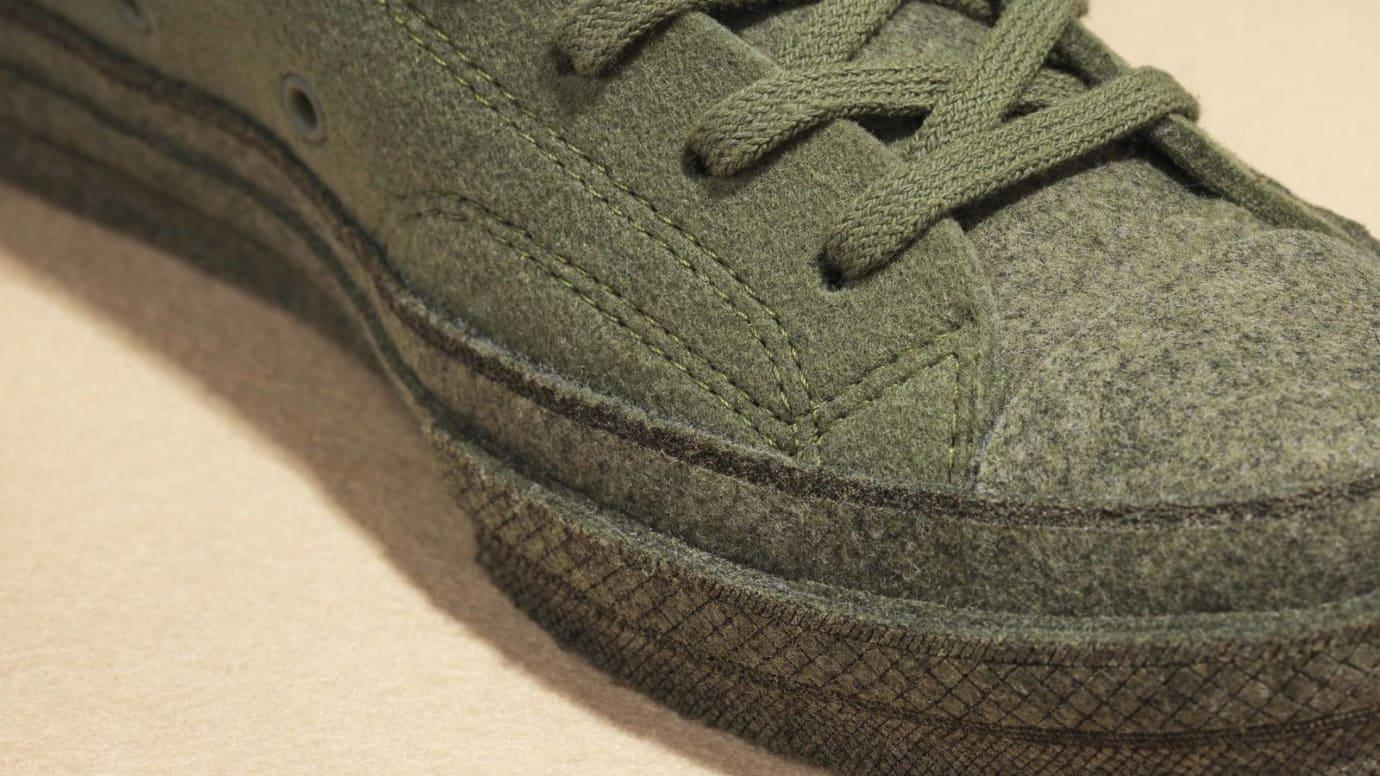 JW Anderson x Converse Chuck 70 Felt 'Olive' (Toe Detail)