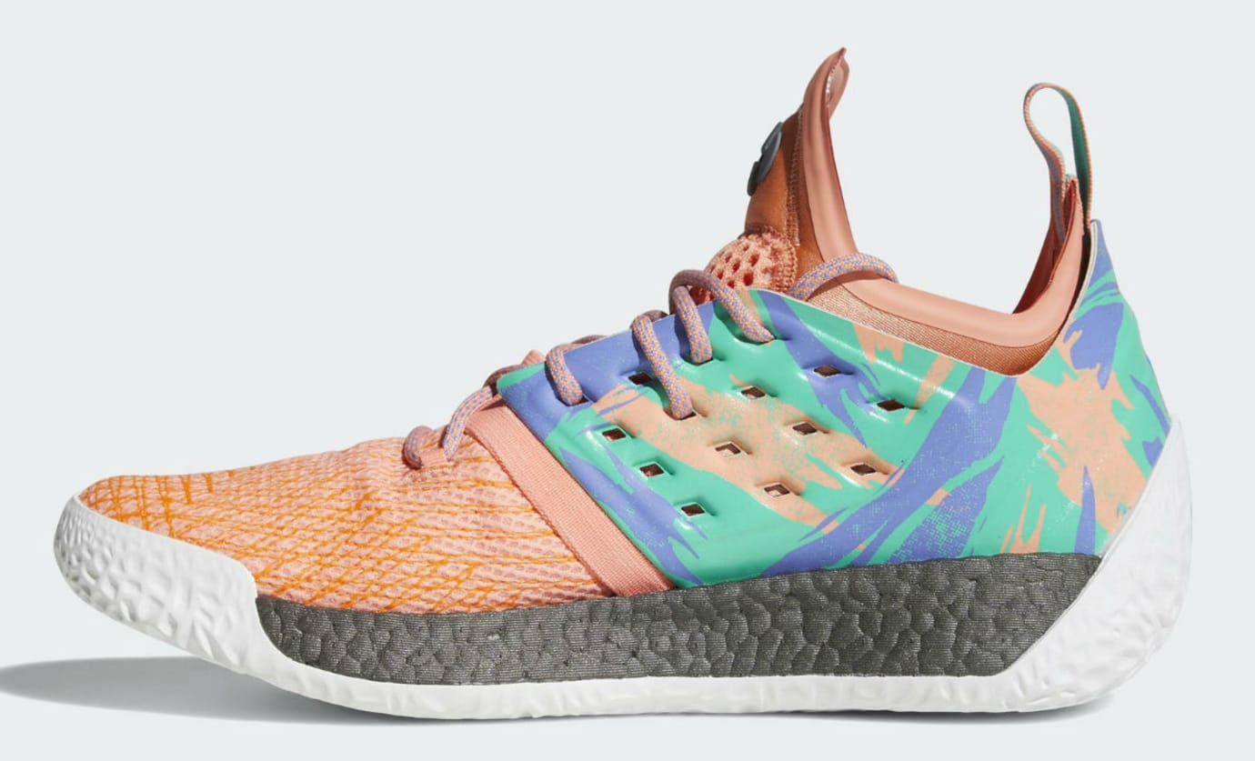Adidas Harden Vol. 2 Orange Release Date AH2219 Medial