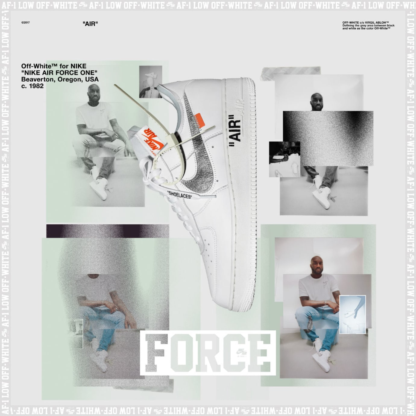 Virgil Abloh x Off-White x Nike Air Force 1 Low Poster