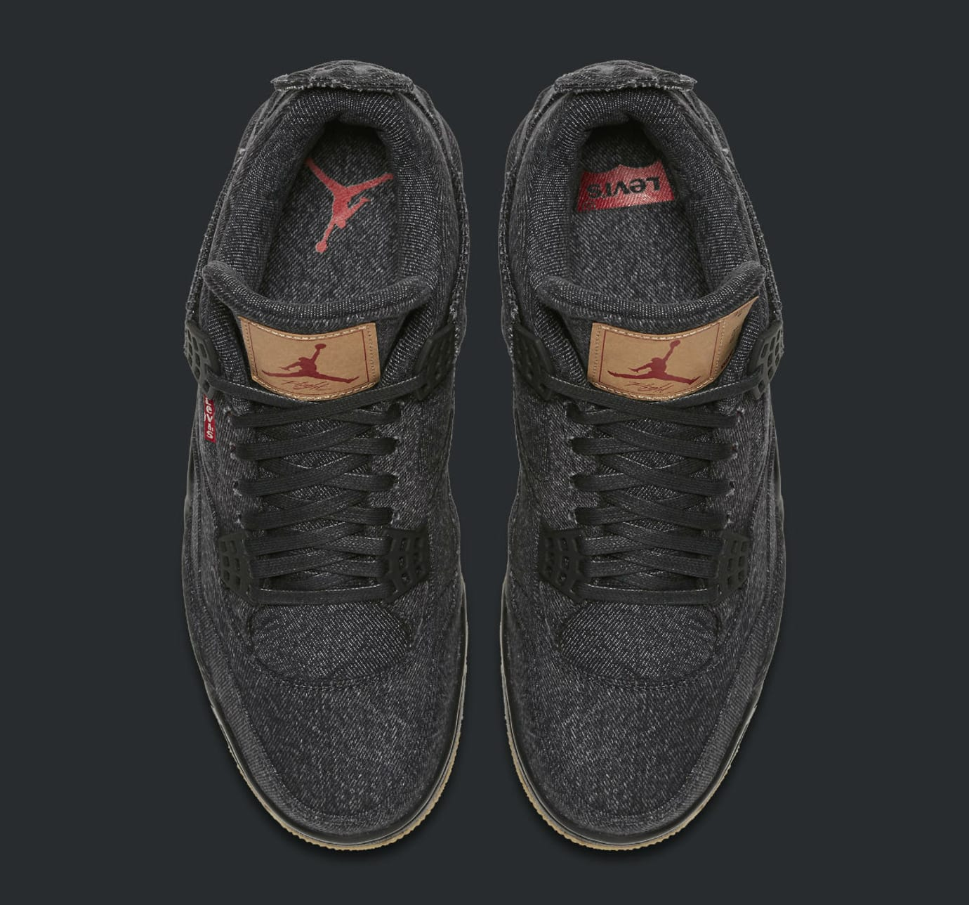 Levi's x Air Jordan 4 Black Denim Release Date AO2571-001 Top