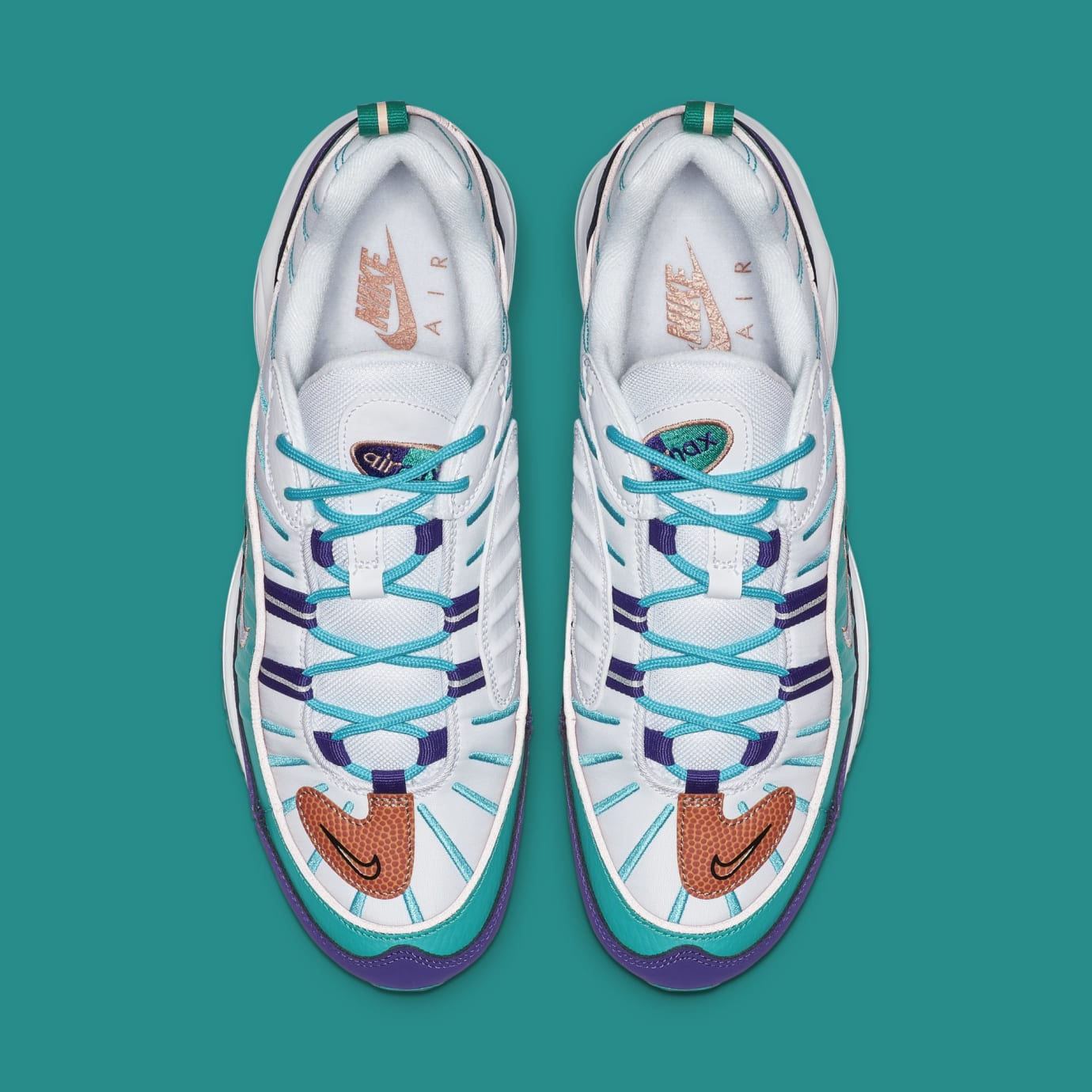 Nike Air Max 98 'Court Purple/Terra Blush-Spirit Teal' 640744-500 (Top)