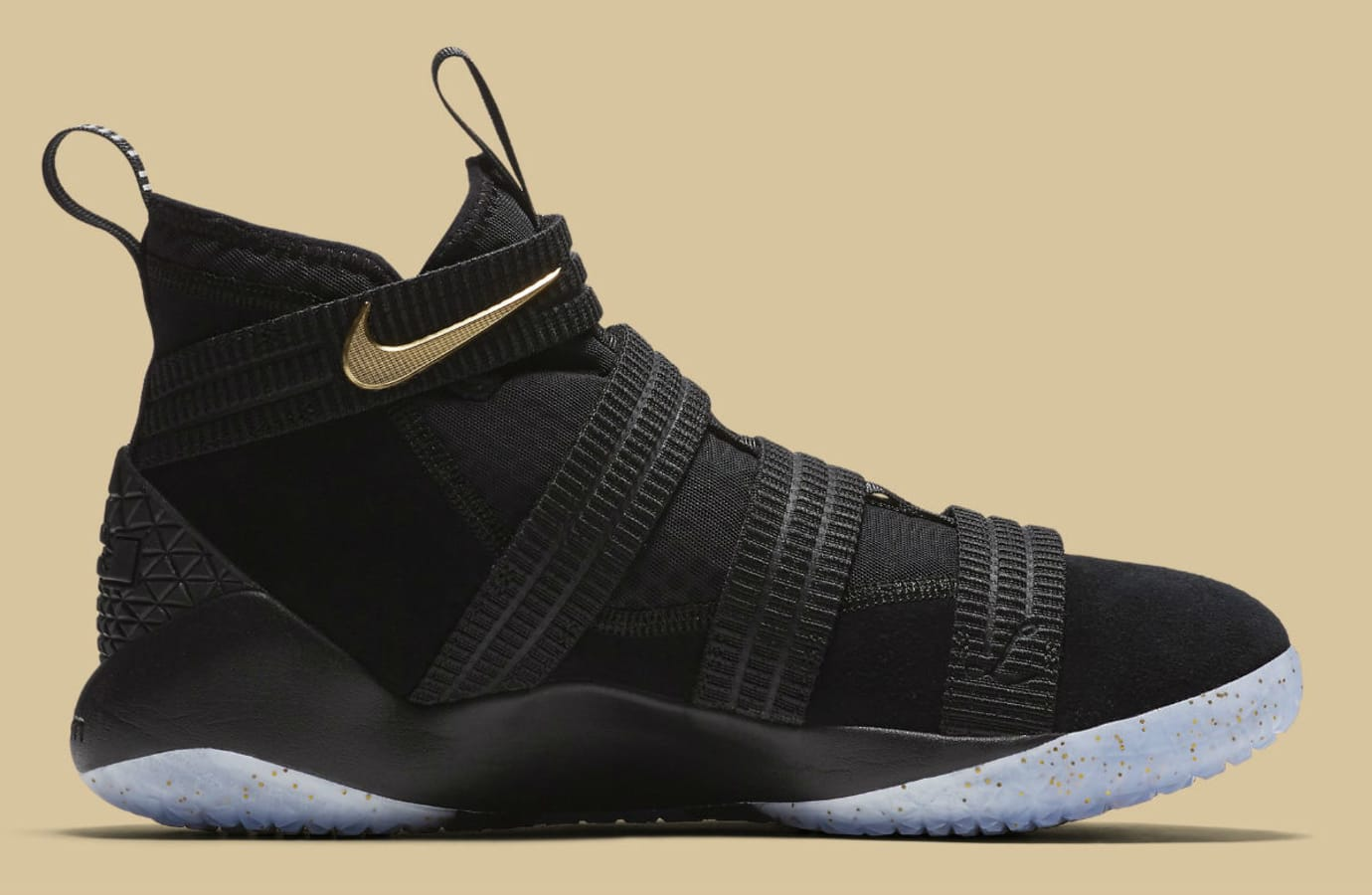 7324cabad2b Nike LeBron Soldier 11 SFG Black Gold Finals Release Date Medial