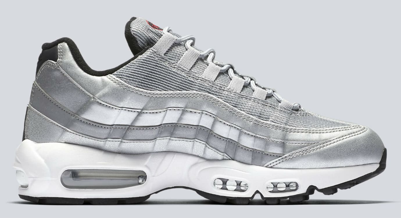 best cheap 69a48 d0bd0 Nike Air Max 95 Silver Bullet Release Date Medial 918359-001