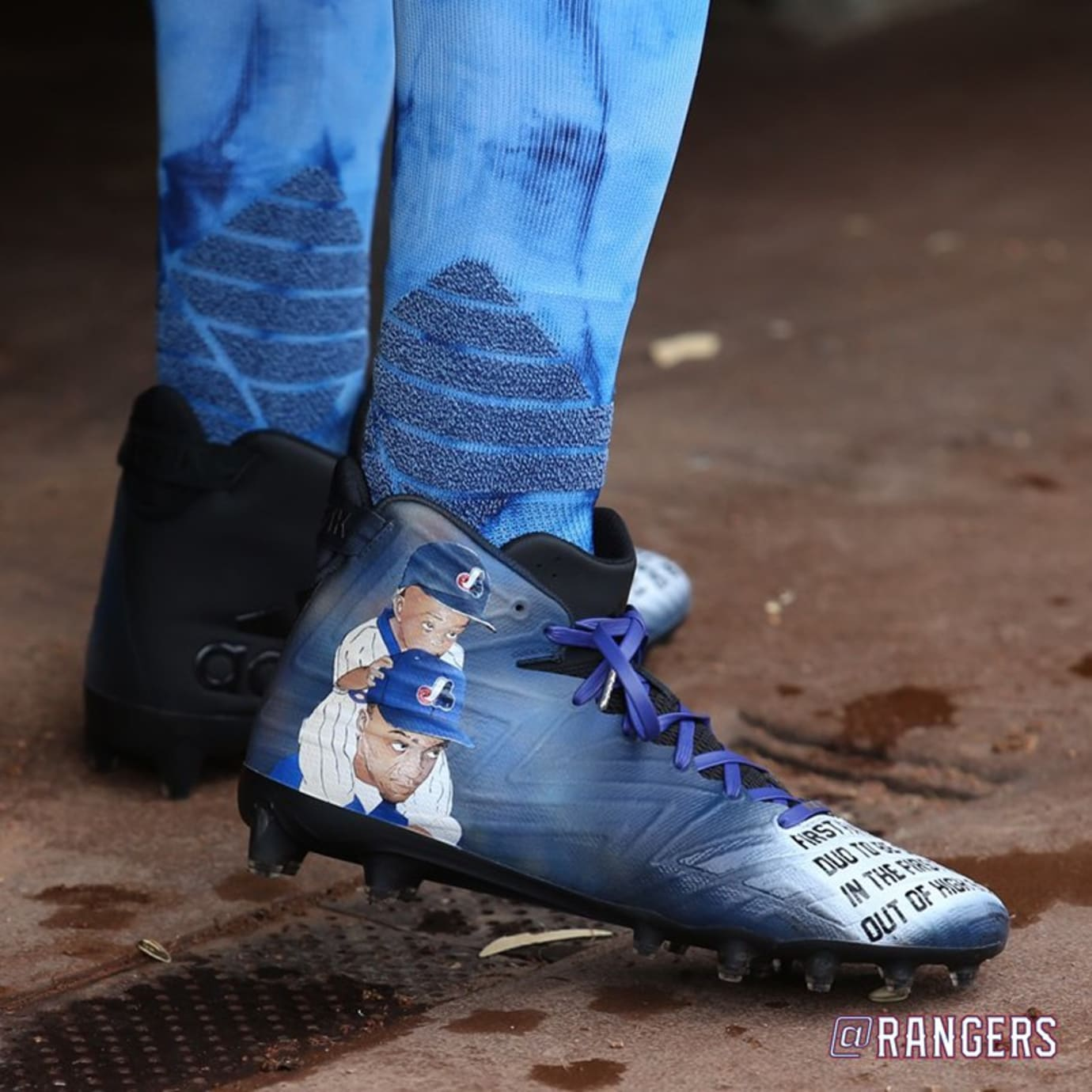 Delino DeShields Father's Day Cleats Heel