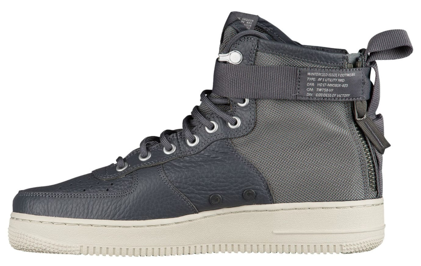 Nike SF Air Force 1 Mid Dark Grey Release Date Medial 917753-004