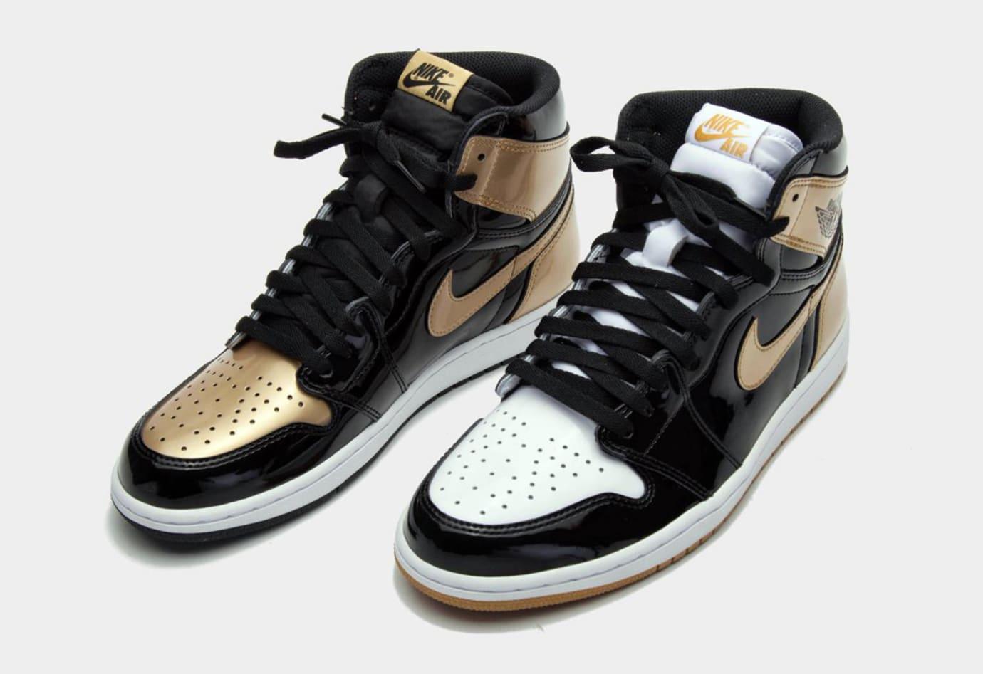 Gold Air Jordan 1 Top Three 2