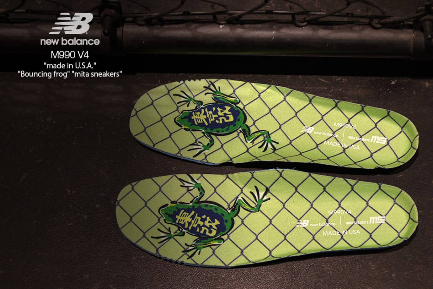 Mita Sneakers x New Balance 990v4 'Bouncing Frog' (Insole)