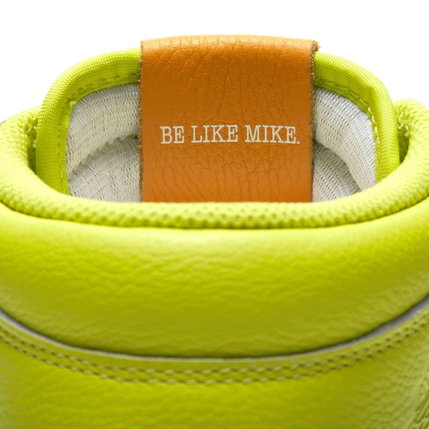 Air Jordan 1 Gatorade Cyber Yellow Lime Release Date AJ5997-345 Tongue