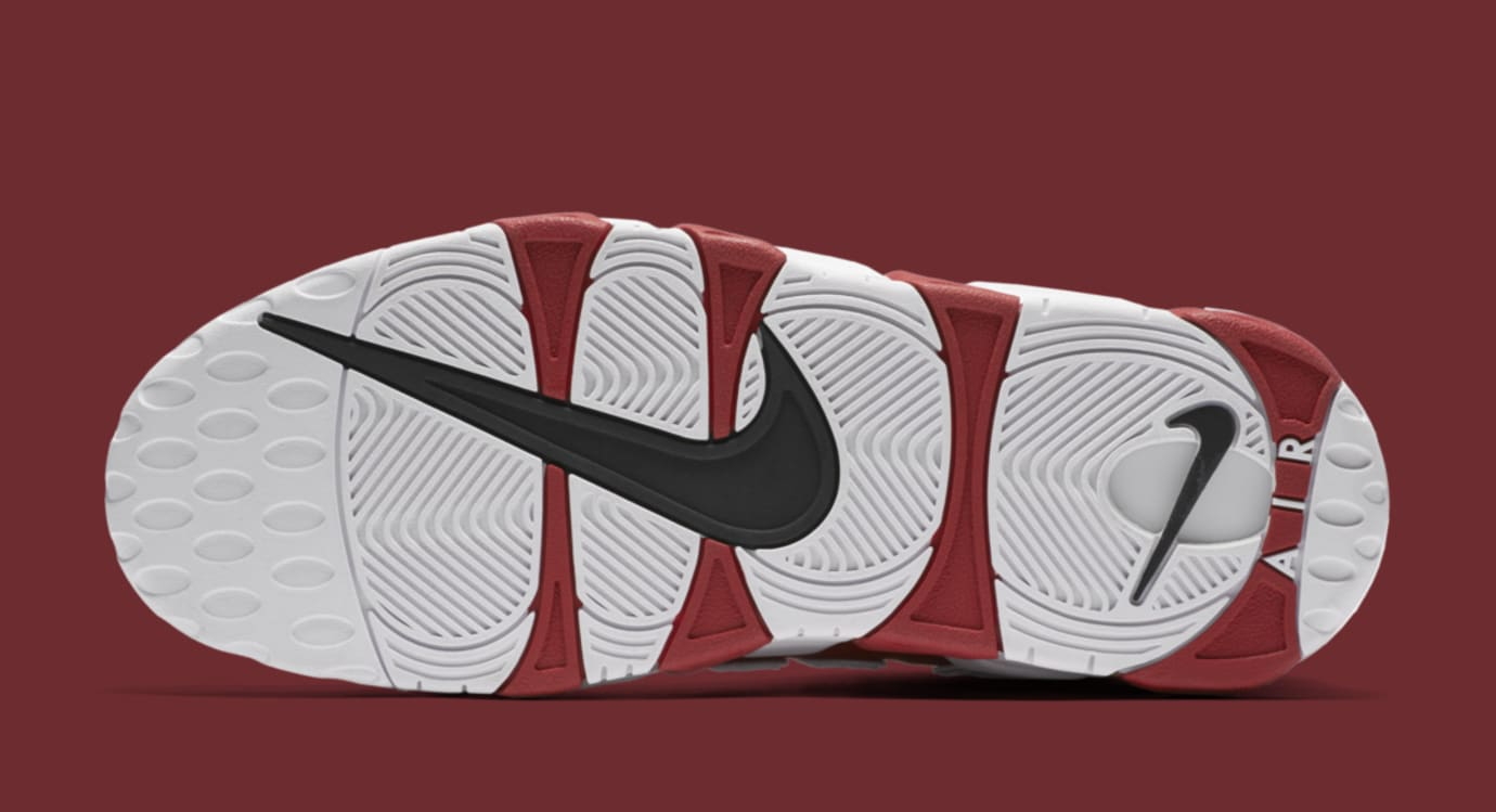 Red Supreme Nike Air More Uptempo 902290-600 Sole