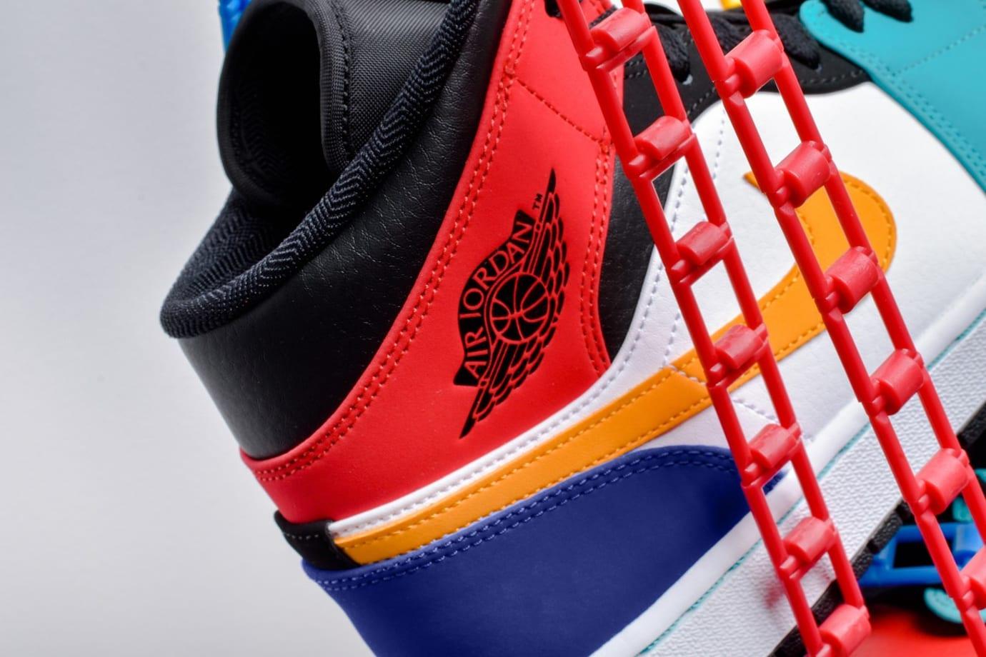 7afc5dba18b Image via Xtreme.pt · Air Jordan 1 Mid  Multicolor  554724-125 (Heel)
