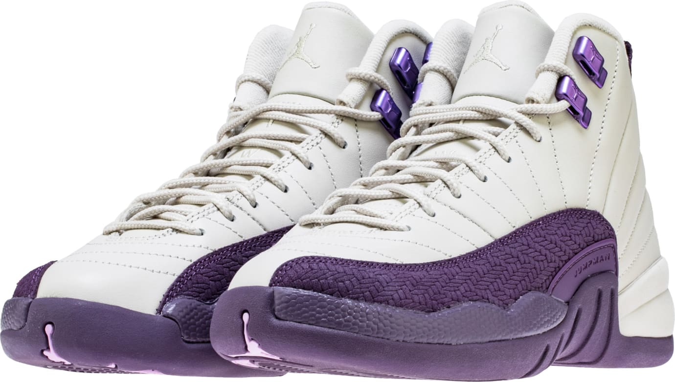 db77d92c161 Air Jordan 12 Retro GS Desert Sand Purple Release Date 510815-001 ...