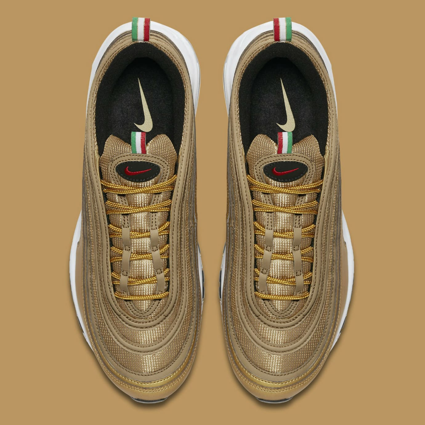 6e362d1237f Nike Air Max 97 Italy Flag Gold Release Date AJ8056-700 Top