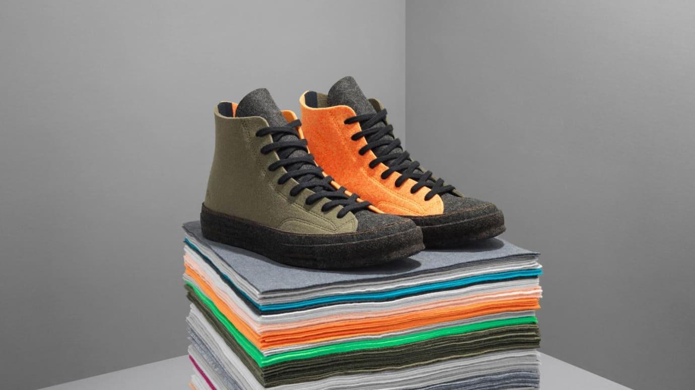 JW Anderson x Converse Chuck 70 Felt 'Olive/Orange' (Pair)