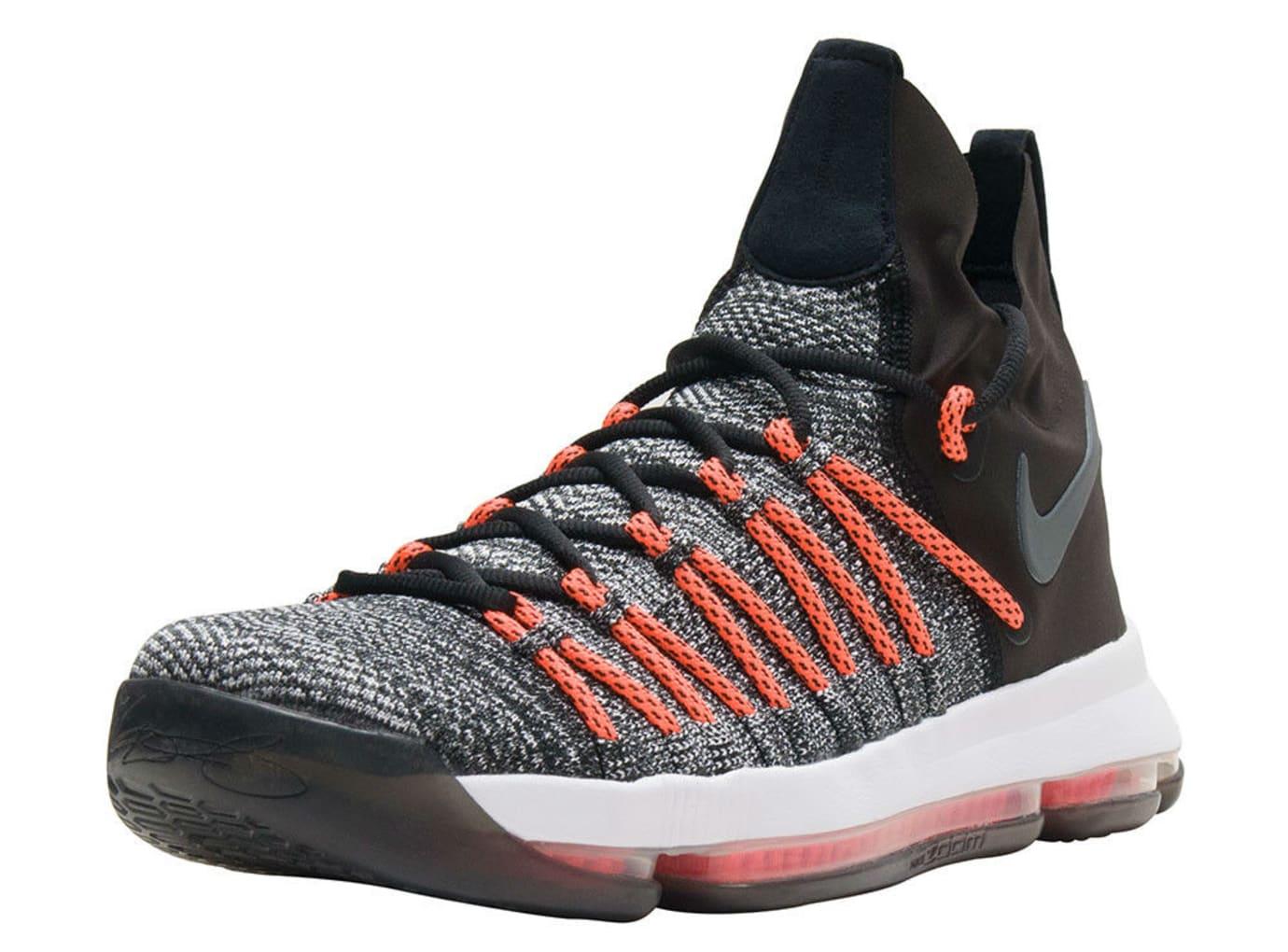 Nike KD 9 Elite Black White Dark Grey Hyper Orange Release Date Main 878637-010