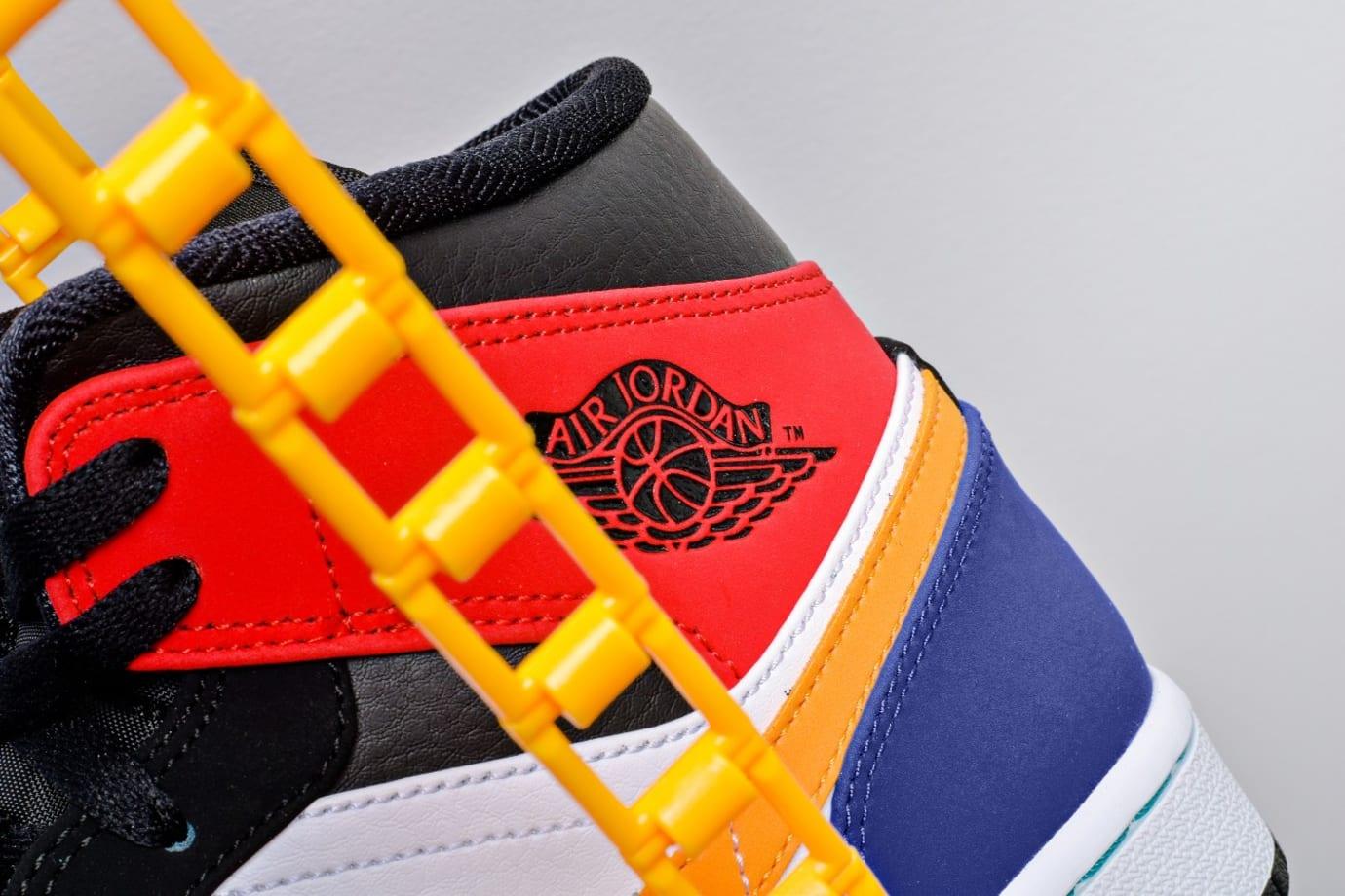 868b68915e54 Image via Xtreme.pt · Air Jordan 1 Mid  Multicolor  554724-125 (Heel Detail)