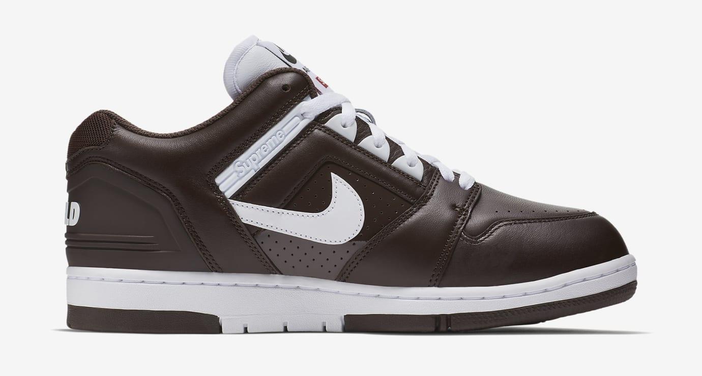 Supreme Nike SB Air Force 2 AA0871-212 Black Medial