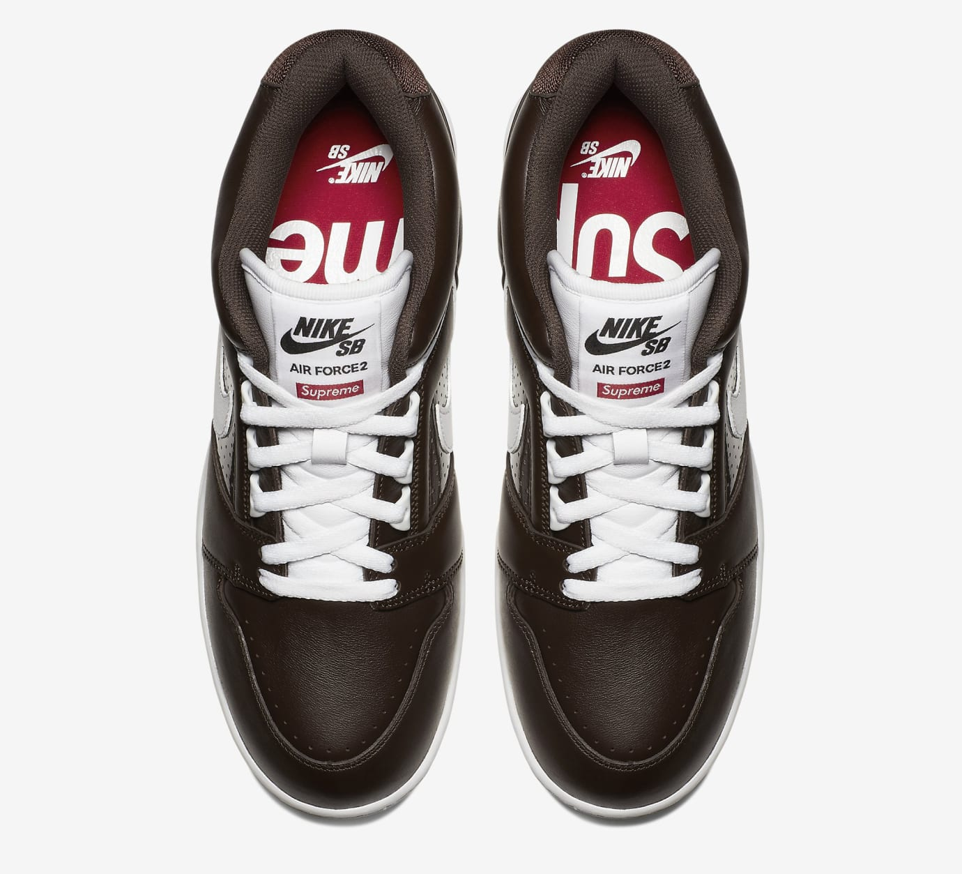 f9e8f4152b52 Image via Nike Supreme Nike SB Air Force 2 AA0871-212 Black Top