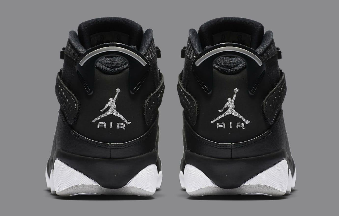 be595209fc1 Jordan 6 Rings 2017 Black Silver Release Date Heel 322992-021