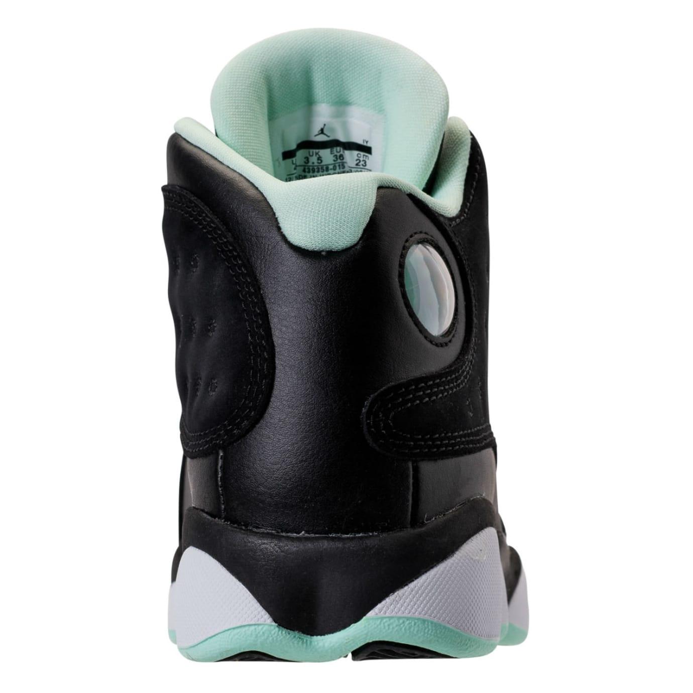 Air Jordan 13 GS Mint Foam Release Date Heel 439358-015