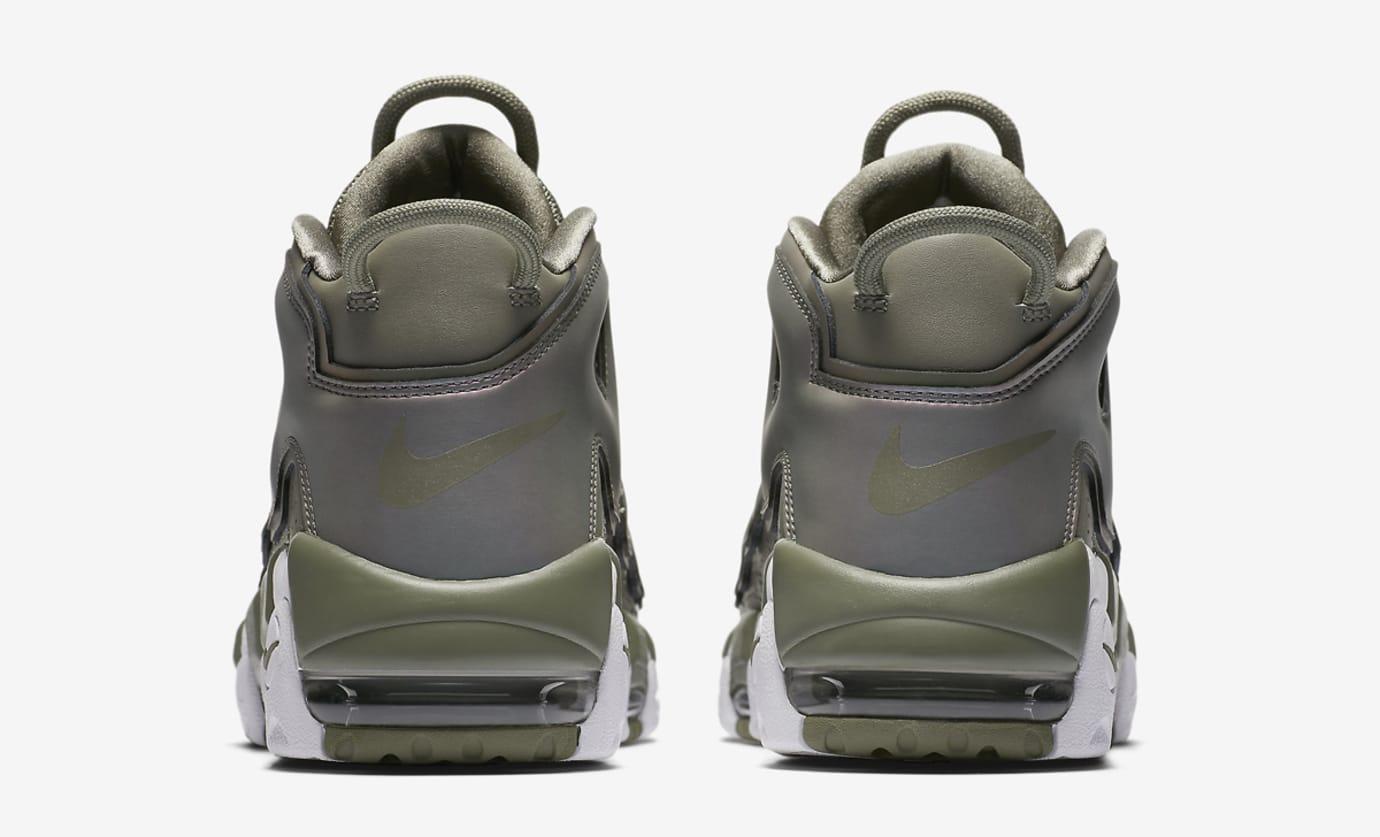 Nike Air More Uptempo Womens Dark Stucco 917593-001 Heel