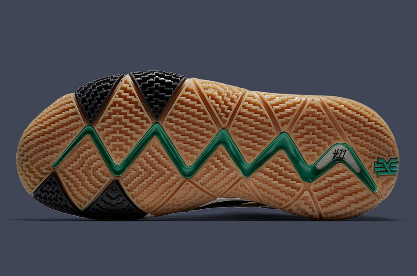 Nike Kyrie 4 Pitch Blue Gold Release Date 943807-403 Sole 8938543bb