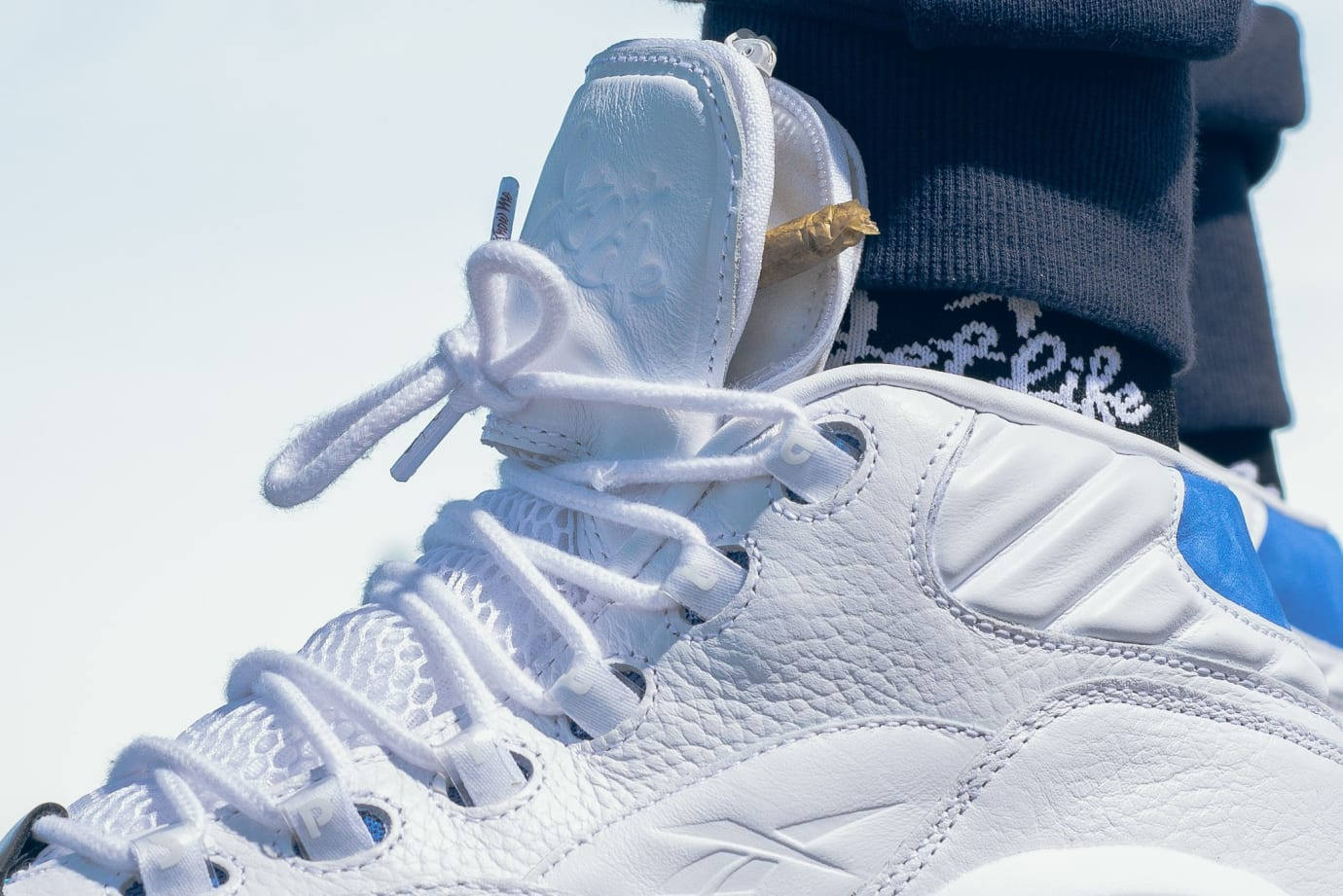 Image via Reebok Currensy x Reebok Question Mid  Jet Life  (Detail) ba7818e79