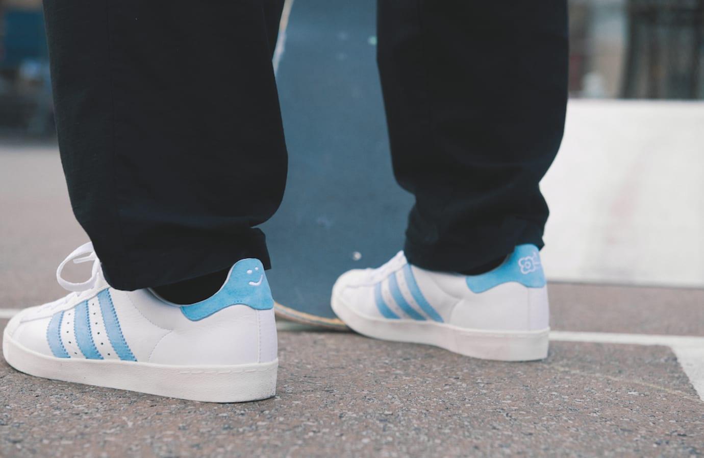 Adidas x Krooked Superstar Vulc Mark Gonzales