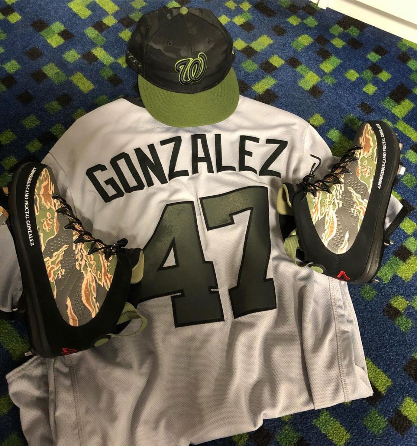 Air Jordan 9 Cleats Memorial Day Camo Gio Gonzalez