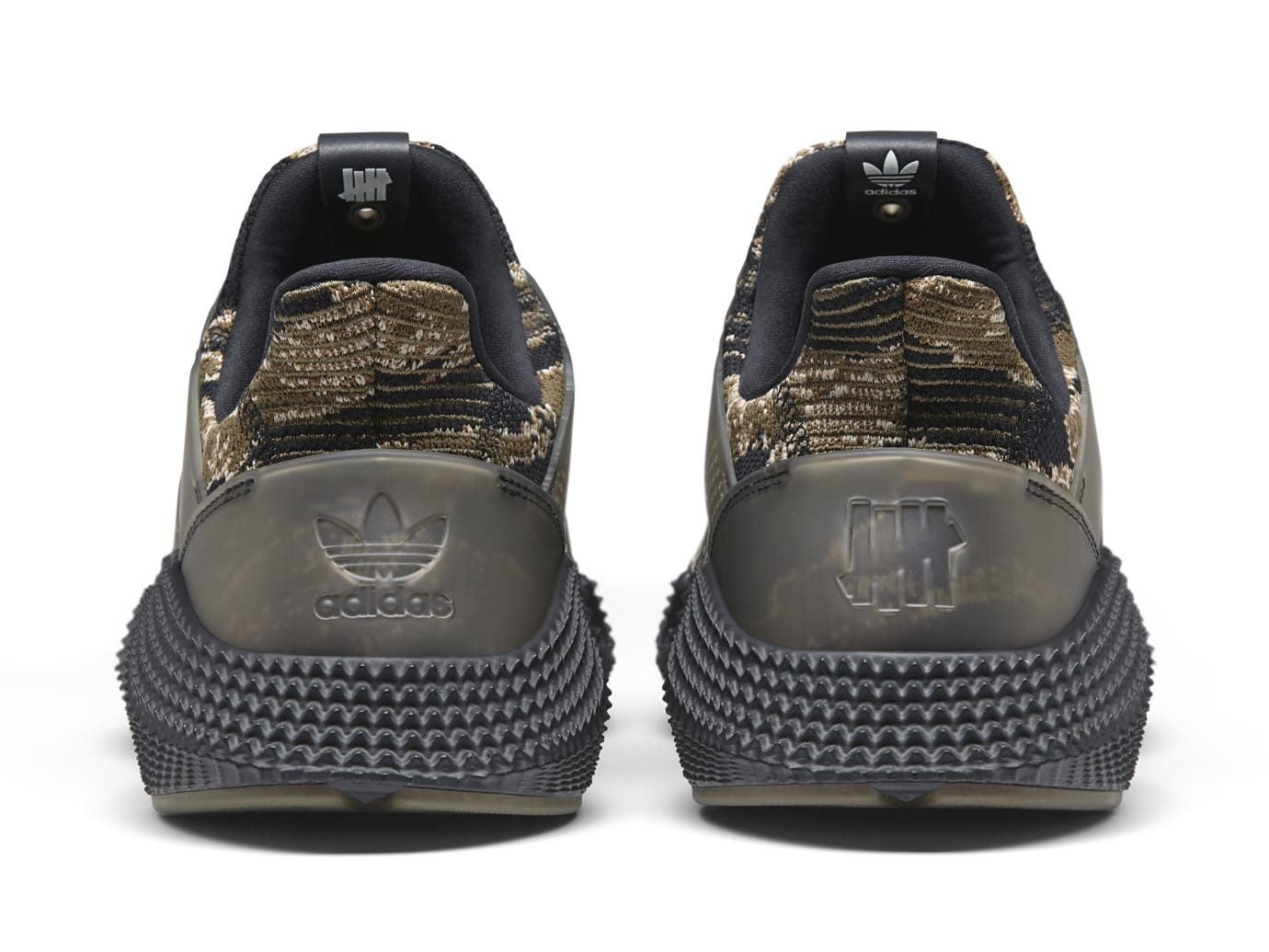 UNDFTD x Adidas Prophere Core Black/Trace Olive-Raw Gold AC8198 (Heel)
