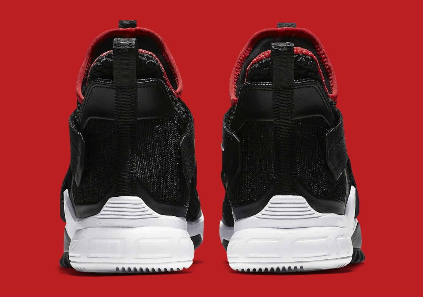 Nike LeBron Soldier 12 Bred Release Date AO4053-001 Heel