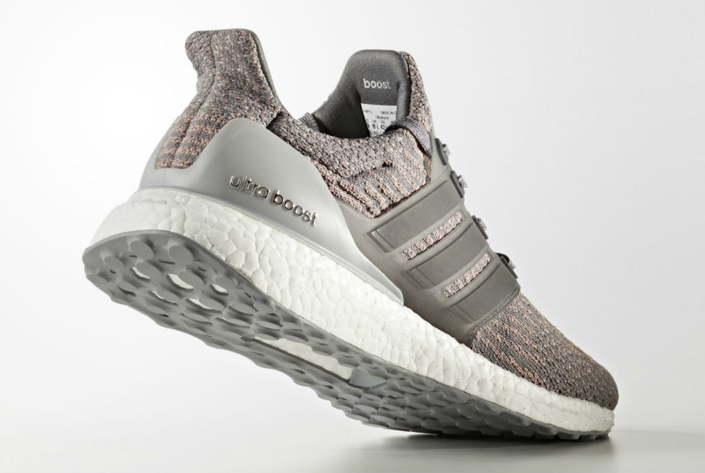 Adidas Ultra Boos Grey Four Trace Pink Release Lateral