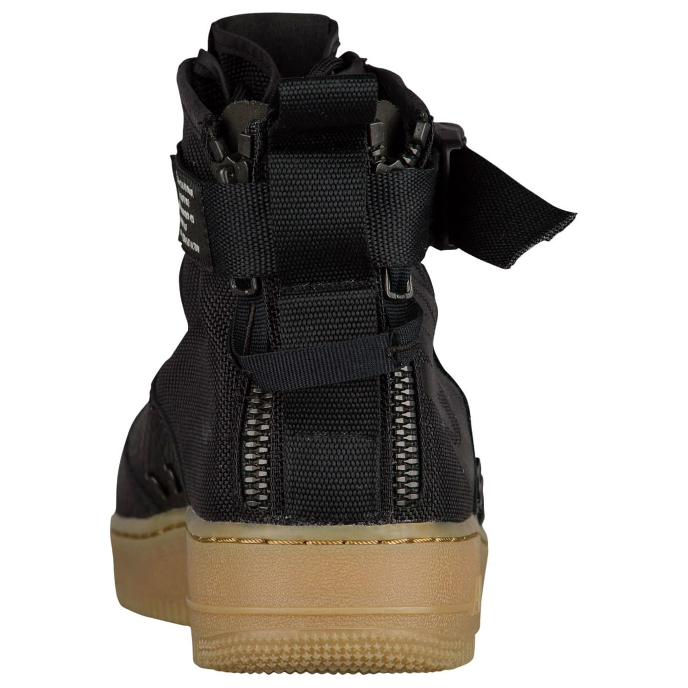 Nike SF Air Force 1 Mid Black Gum Release Date Heel 917753-003