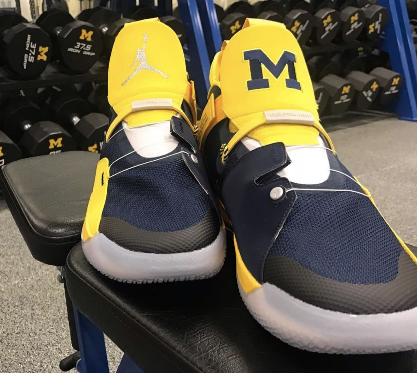 Air Jordan 33 'Michigan' PE 3