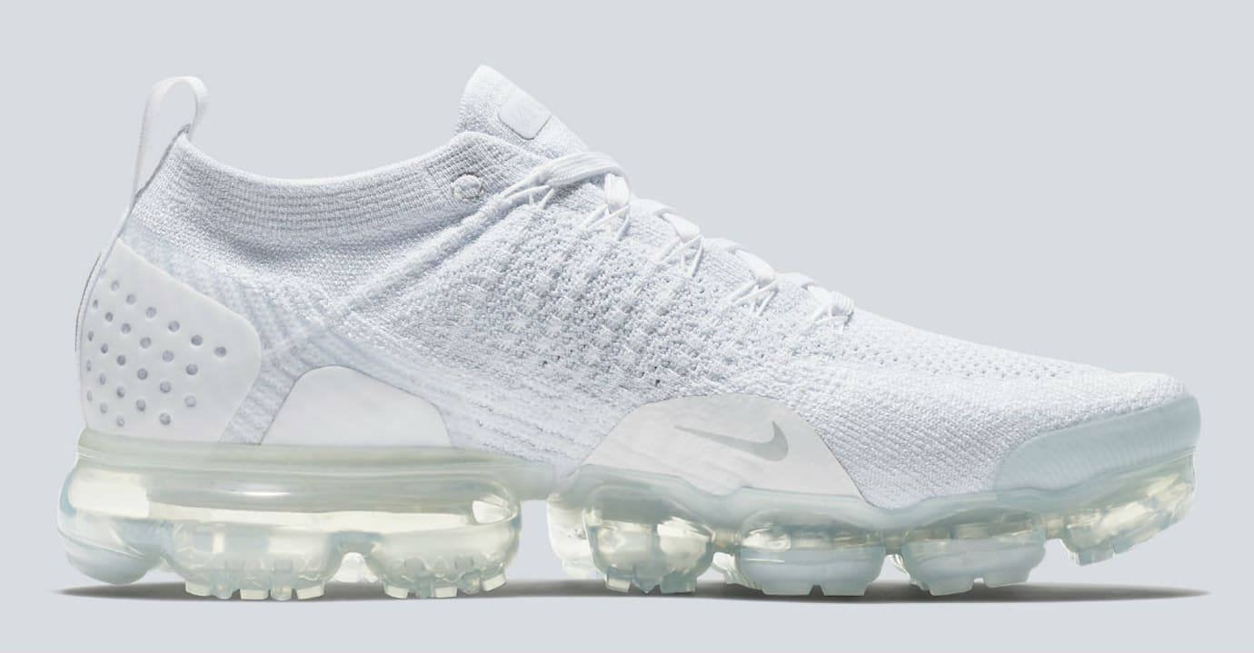 Nike Air VaporMax 2 White Pure Platinum Release Date 942842-100 Medial