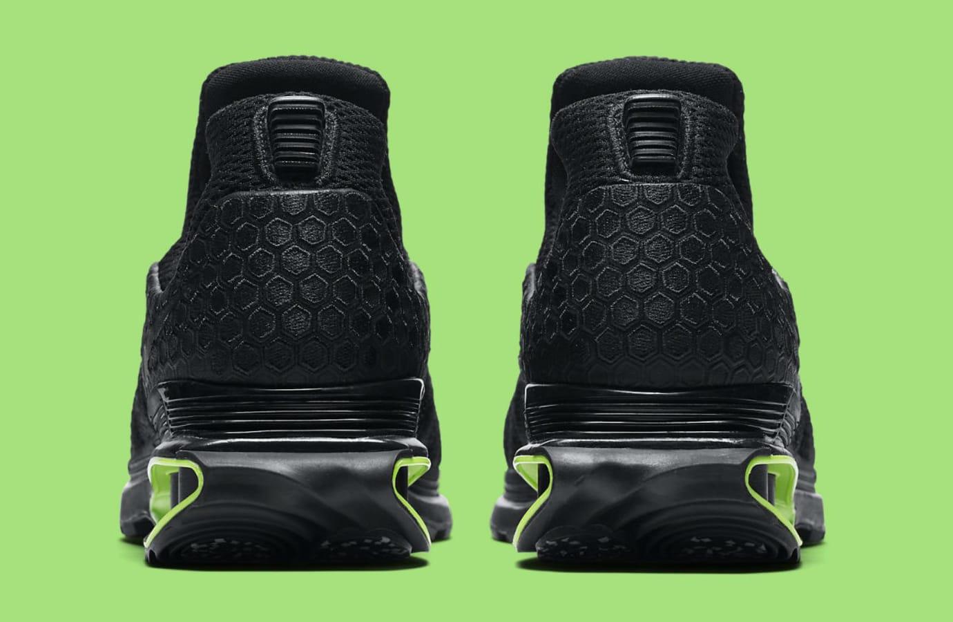 Nike Shox Gravity Luxe Black Green Strike Release Date AR1470-003 Heel