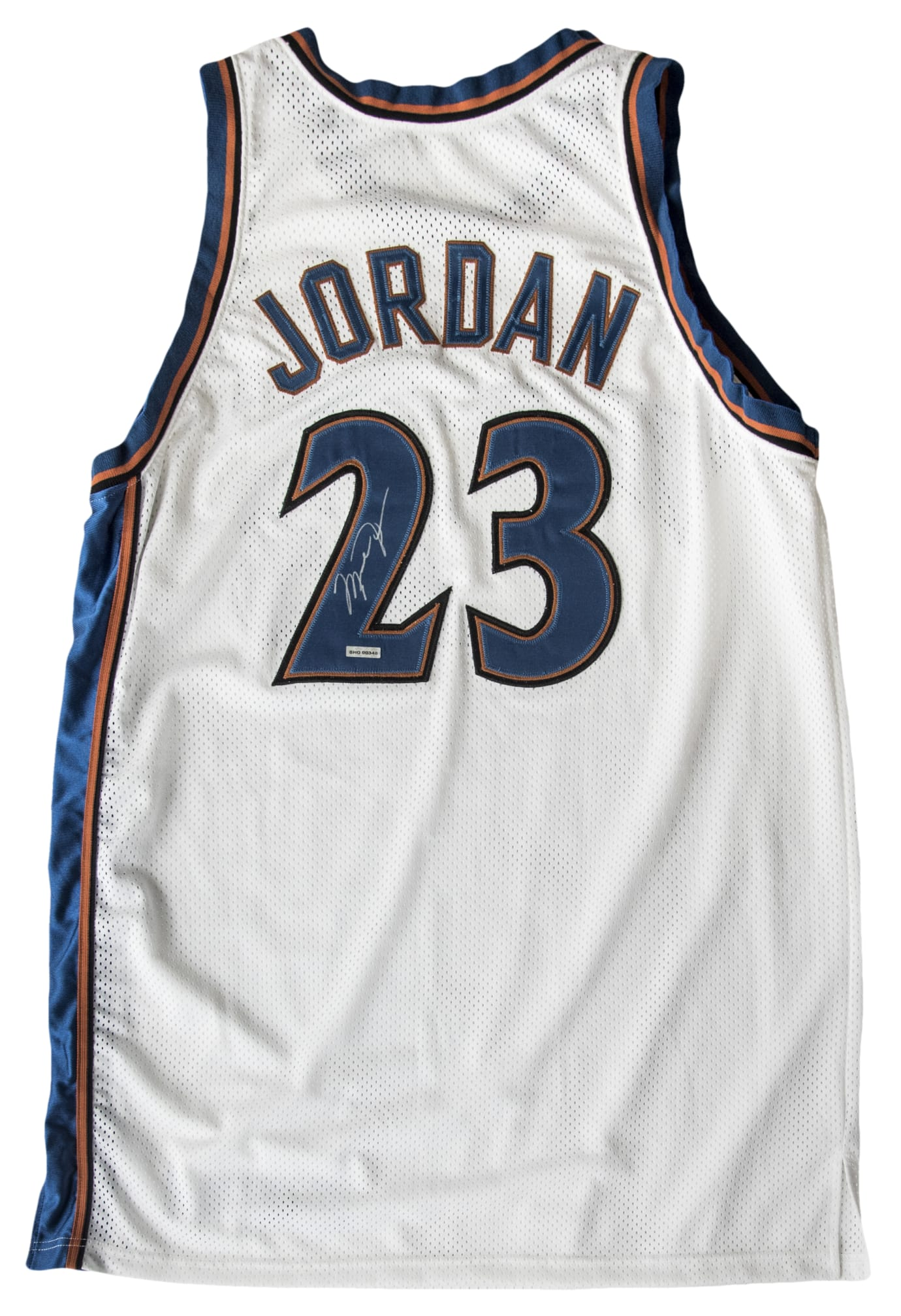 detailed look b3a5f b5db0 Why Someone Paid $50,000 for Michael Jordan's Wizards Jersey ...
