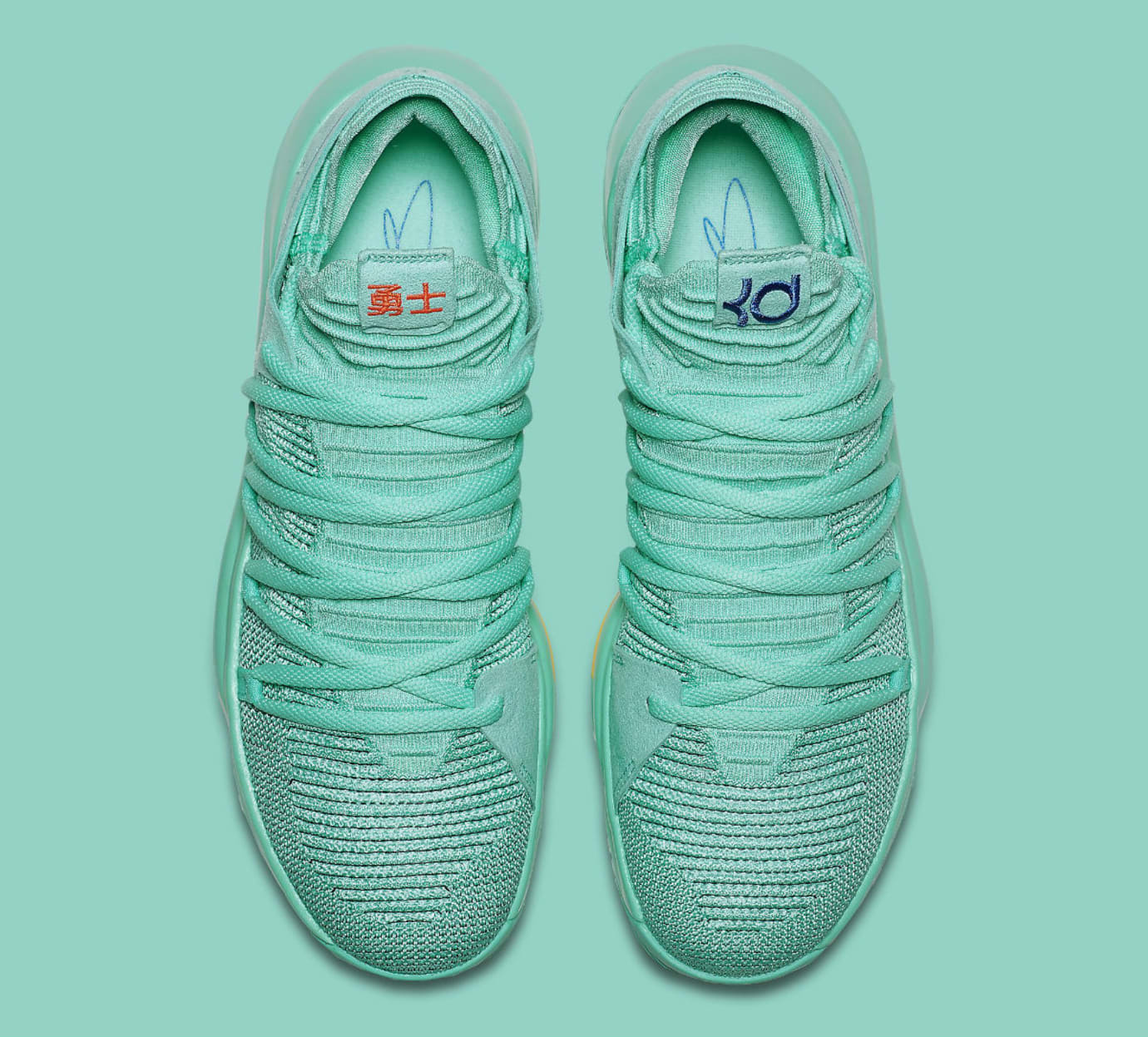 super popular c6ec5 a4d07 Nike KD 10 X City Edition Hyper Turquoise Racer Blue Release Date  897816-300 Top