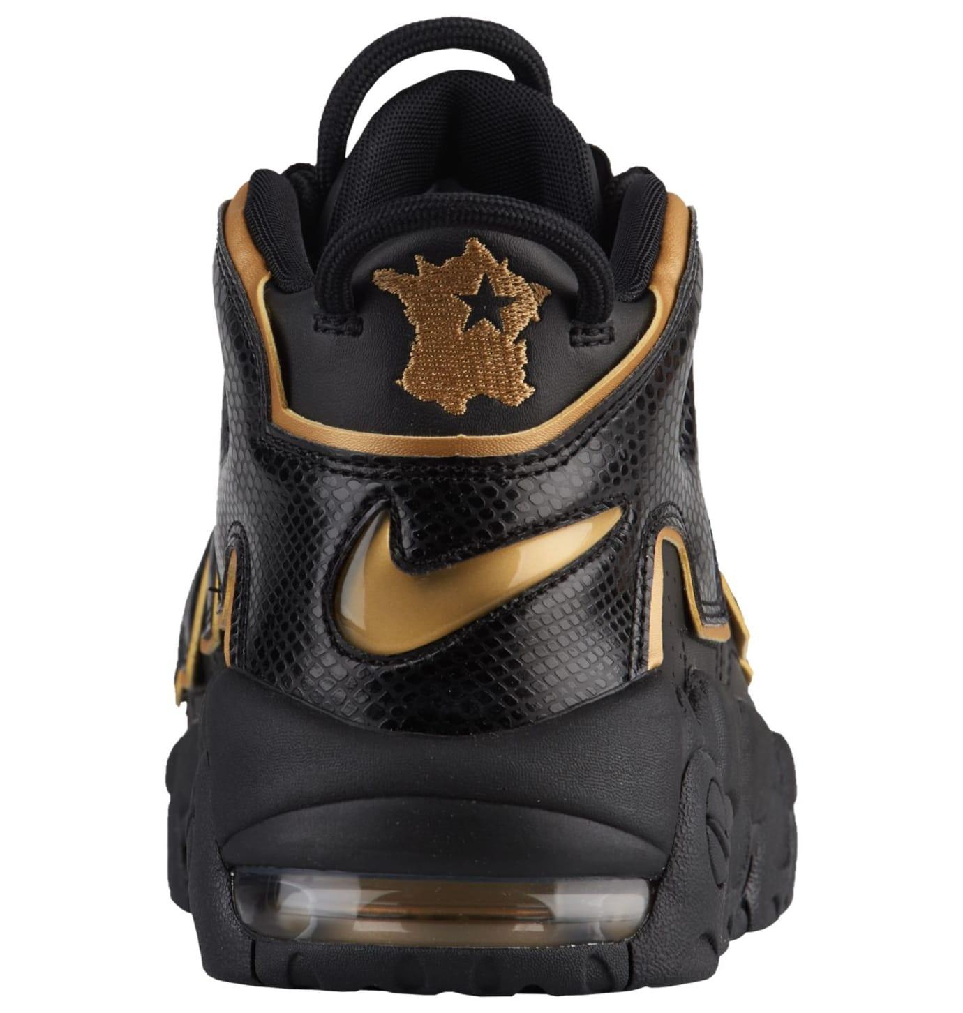 2018 sneakers utterly stylish purchase cheap Nike Air More Uptempo Black/Metallic Gold 'France' AV3810 ...