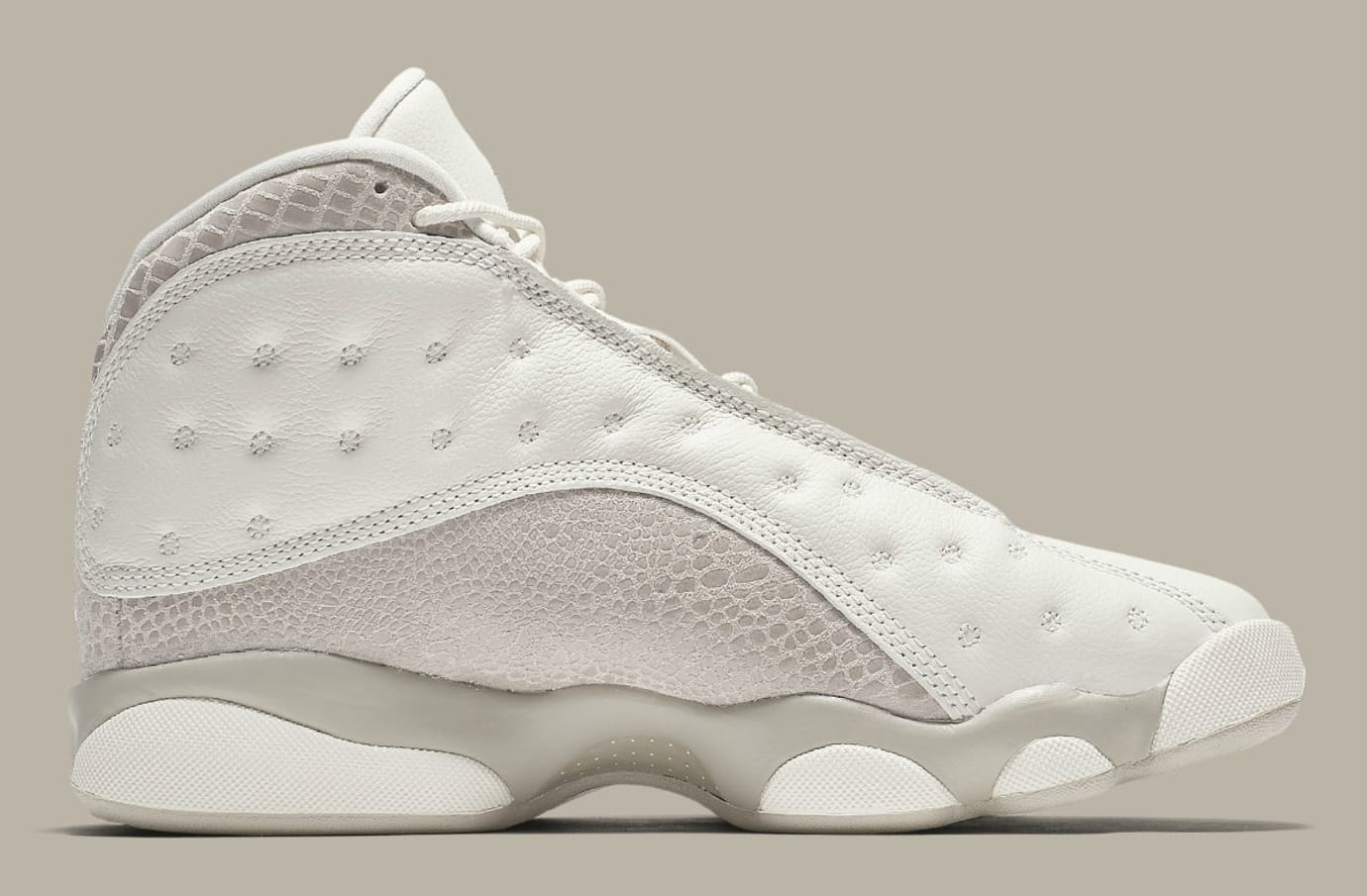 new product 271bf cd510 Image via Nike Air Jordan 13 XIII Women s Phantom Moon Particle Release  Date AQ1757-004 Medial