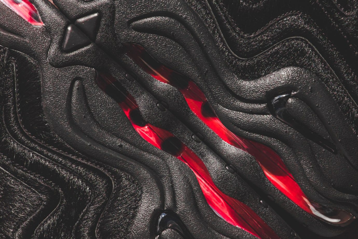 Kith Nike Pippen 1 Black Red Pony Hair 4